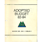 Adopted Budget, FY 1984